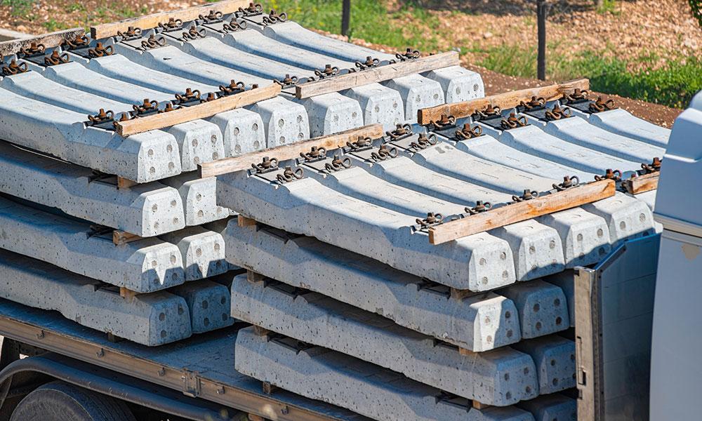 Pila de durmientes de concreto PSI Concreto
