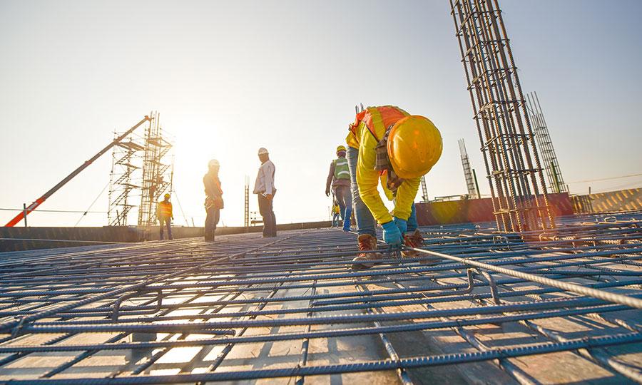 Armado de losas de concreto en obra PSI Concreto